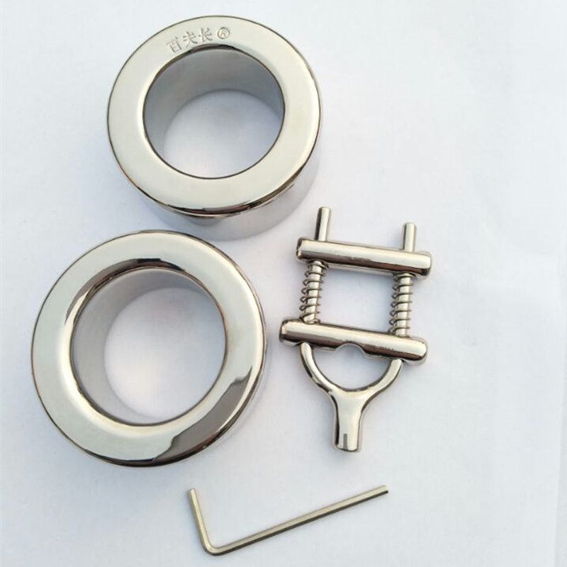 Top Stainless Steel Combined Type Penis Cock Eongated Bondage Ring,Scrotum Pendant Ball Stretchers Testis Weight Sex Toy B2-90 cock rings scrotum ring stainless steel ball stretcher cockring adult sex toys for men scrotum bondage locking penis ring
