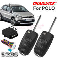 Flip key keyless entry system for Polo vw Volkswagen remote control door lock locking high quality heavy classic CHADWICK 8239