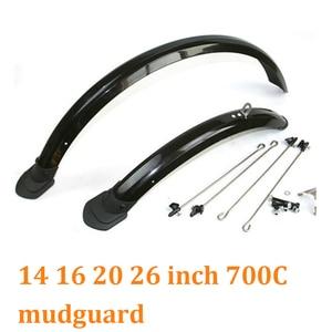 Image 1 - 14 16 20 26 27.5 29 polegada 700c bicicleta fender duplo suporte ajustável tamanho paralama para bicicleta dobrável dianteiro e traseiro lama guarda