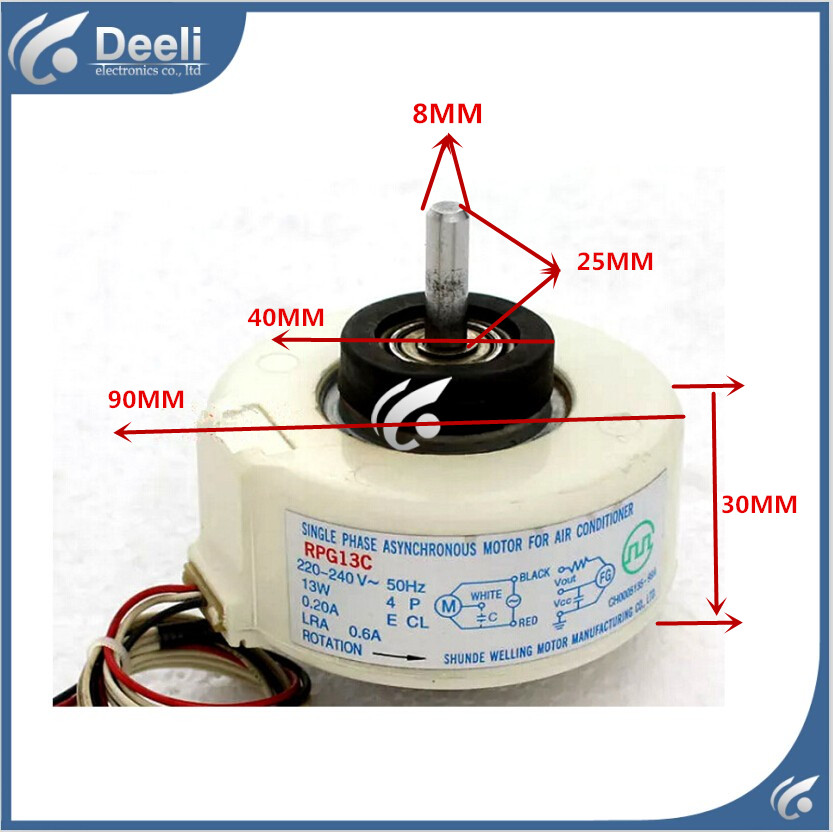 good working new for Air conditioner Fan motor machine motor RPG13C good working ups ems dhl 95% new good working for air conditioner inner machine motor fan ydk50 8g 3 7 line