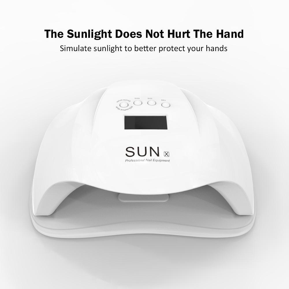 54W SUN X UV Led Nail Lamp Nail Dryer LED Gel Nail Polish Dryer Manicure Lamp Light Therapy Lamp Gel Nail Phototherapy Machine