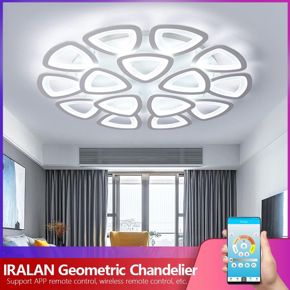 Modern Led Chandelier IRALAN Lustre Art Deco Triangle Lamp For Living/dining Room Kitchen Bedroom Indoor Lighting Fixture Europe