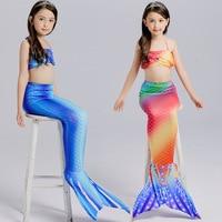 YY4983 children's clothing Swimwear Girls Bikini Mermaid Three-Piece Suit The Little Mermaid Swimsuit