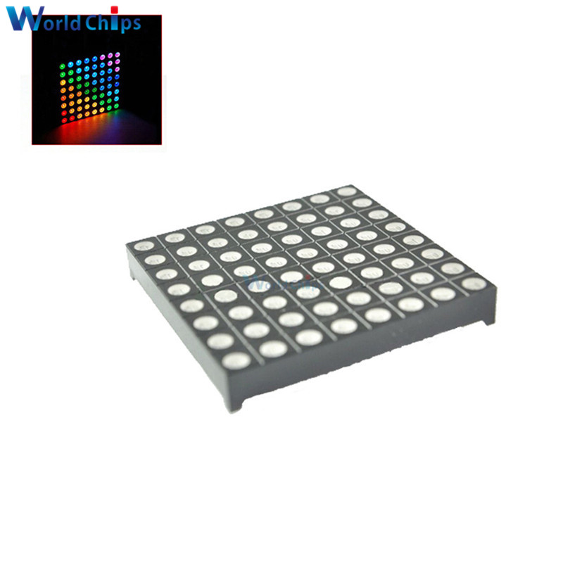 DIY 5mm Led Dirmeter Full Color 8x8 8*8 Mini Dot Matrix LED Display Red Green Bule RGB Common Anode Digital Tube Screen