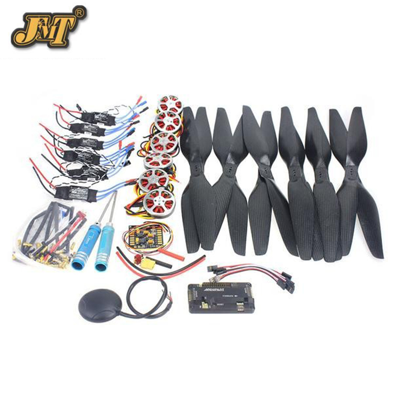 JMT RC Quadcopter Kit 6 Axis Foldable Rack APM2.8 Flight Control Board+GPS+750KV Brushless Motor+15x5.5 Propeller+30A ESC jmt 6 axis foldable rack rc quadcopter kit with qq super flight control 1000kv brushless motor 10x4 7 propeller 30a esc