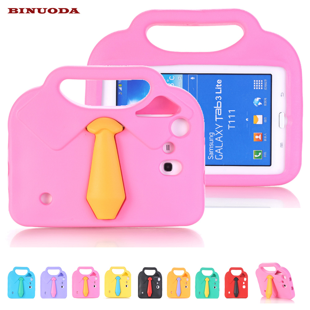 For Samsung Galaxy Tab 4 7.0 Kids Case 3D Cloth EVA ShockProof Handle Stand Case Cover for Samsung Galaxy Tab 4 7.0 T230 T235 metal ring holder combo phone bag luxury shockproof case for samsung galaxy note 8