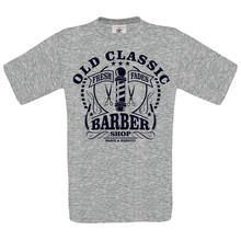 OLD CLASSIC BARBER SHOP DTG. full colour t SHIRT Cool Casual pride t shirt men Unisex New Fashion tshirt Loose Size top ajax(China)