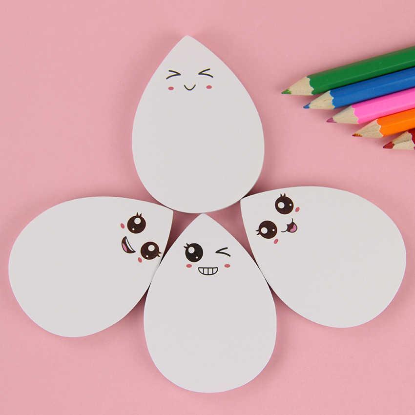Nette Wasser Tropfen Gesicht Ausdruck Selbst Adhesive Memo Pad Sticky Notes Aufkleber Label Notepad Schule Büro Schreibwaren