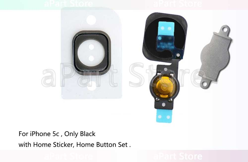 For iPhone 5s SE 5 5c Home Button Fingerprint Sensor Flex Cable With Rubber  Sticker No Touch ID Replacement