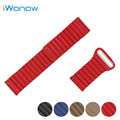 Genuine Leather Watch Band 22mm for Moto 360 2 46mm 2015 Magnetic Buckle Strap Quick Release Wrist Belt Bracelet Black Blue Red