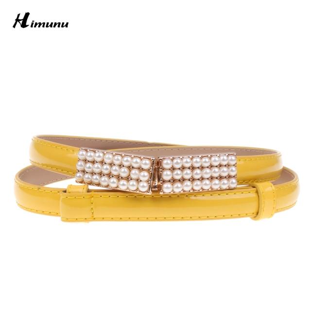 Retail pintura inferior zurriago Hebilla Cinturones Femeninos de Cuero Con Incrustaciones de perlas para Las Mujeres Sra. ropa Cummerbund Fajas de Colores Ricos
