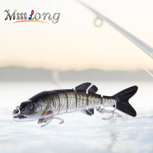Купить с кэшбэком Mmlong 2017 New 7 Segment Lure 17.8cm Pike Baits AL15E 58.4g Hard Plastic Fish Swimbait Sinking Wobblers Fishing Tackle Pesca