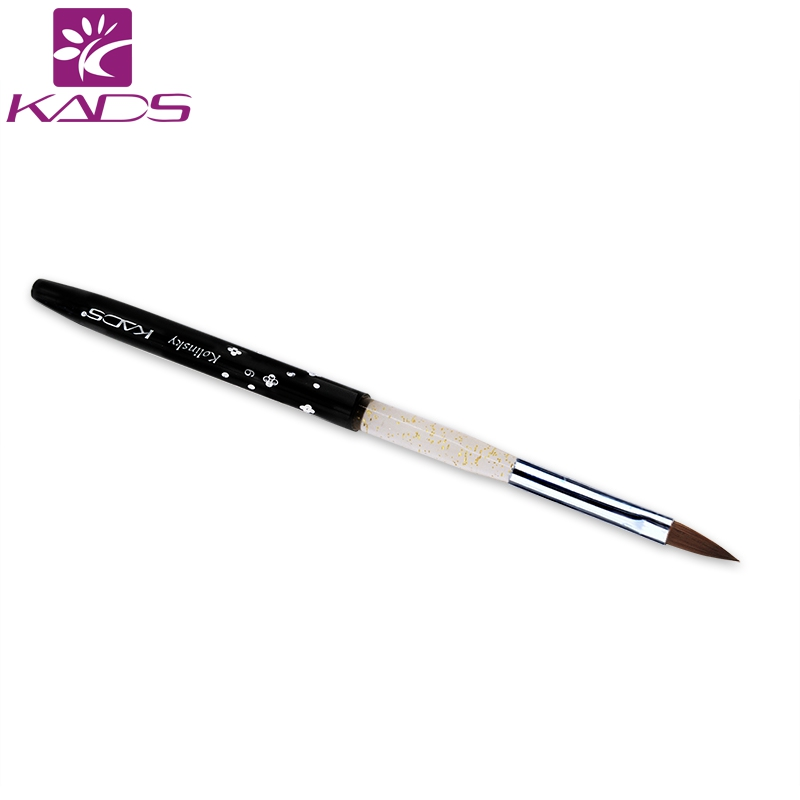 KADS Black 6#,50pcs/set Kolinsky Sable Brush Nail Brush For Nail Art Painting Tools DIY Painting Pen цена и фото