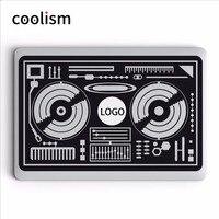 DJ Boong Máy Nghe Nhạc Vinyl DIY Máy Tính Xách Tay Sticker cho MacBook Decal Air Pro Retina Mac 11 12 13 15 inch Mac Bề Mặt HP Mi Máy Tính Xách Tay da