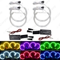 Car CCFL Halo Rings Angel Eye Light Headlight Kits for BMW E46,E36,E38,E39 Auto Light 6 Colors #CA4170