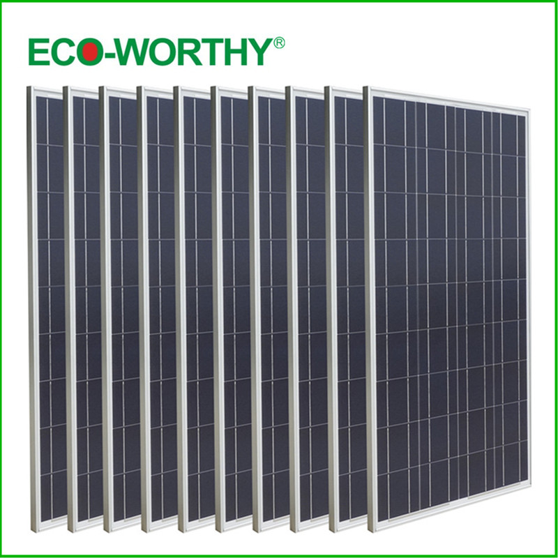 USA Stock New Style 1000W Poly Solar Panel 10*100W Solar Module 12V Home Caravan Boat Power Supply new uk stock 40w 12v poly solar panel poly solar module high quality free shipping