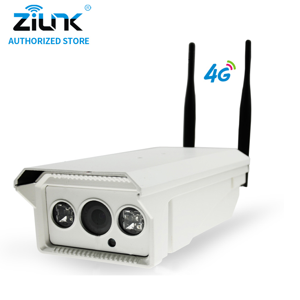 ZILNK 1080P 3G 4G SIM Card Bullet IP Camera 2MP HD P2P Network Waterproof IR Night Vision Support TF Card Onvif Outdoor White wistino 1080p 960p wifi bullet ip camera yoosee outdoor street waterproof cctv wireless network surverillance support onvif