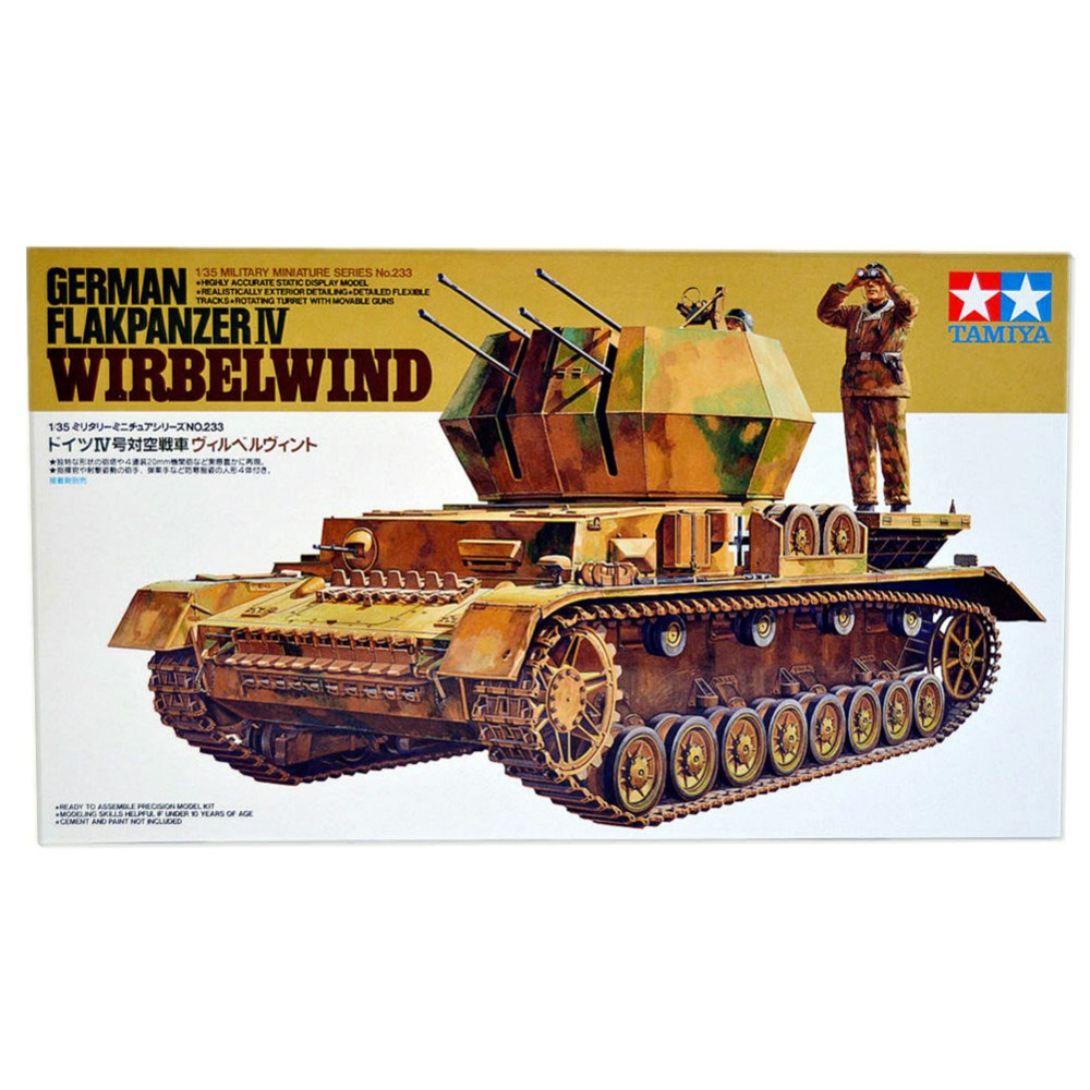 OHS Tamiya 35233 1/35 German Flakpanzer IV Wirbelwind Anti-Craft Tank Military AFV Assembly Model Building Kits oh ohs tamiya 35285 1 35 german tank destroyer hetzer mid product 38t military assembly afv model building kits