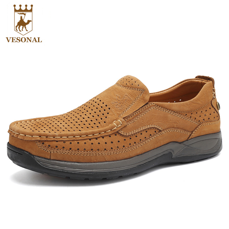 VESONAL 2017 Spring Autumn Brand Male Shoes Men Ons Casual Genuine Leather Quality Comfortable Walking Boat Man Driver Footwear