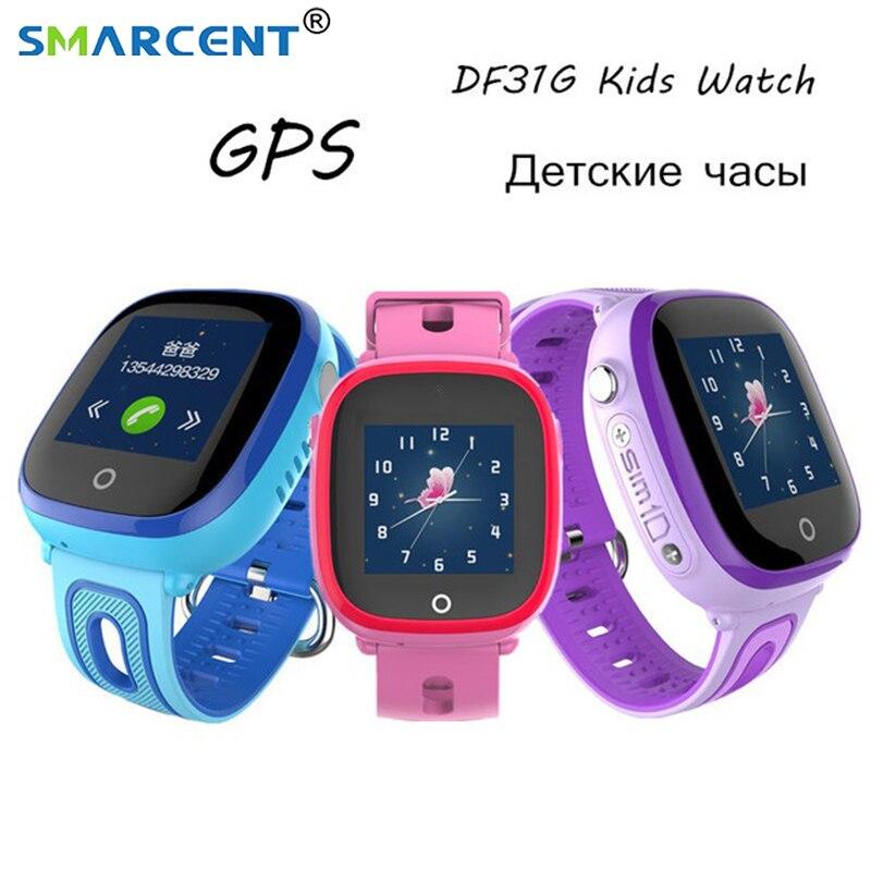Enfants Montres Intelligentes DF31G GPS LBS Positionnement Bébé Fort À Puce Montre SOS Call Lieu Anti-perte Smartwatch PK Q100 q750