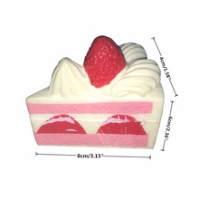 Vipe Slow Rising Squishy Slice Triangle Cake Squishy Toy Cream Scented Slow Rising Hand Wrist Toy Color Random