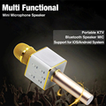 Portable Home KTV Wireless Bluetooth Microphone with Mic Speaker Condenser Mini Karaoke Player for CellPhones iPad tablet PC
