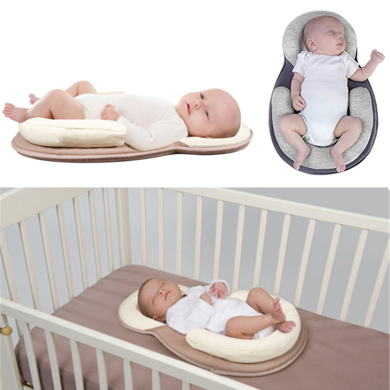 Dropship almohada del bebé recién nacido infantil colchón almohada sueño del bebé posicionamiento Pad previene la cabeza plana Anti rollo almohadas