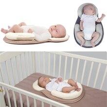 Прямая поставка Детские подушки новорожденных Матрас Подушка для сна позиционирования площадку Предотвращение плоской головкой Форма Анти ролл Подушки