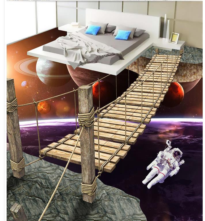 Photo floor wallpaper 3d stereoscopic world ladder Floor 3D wallpaper Floor wallpaper murals wall 3d floor wallpapers