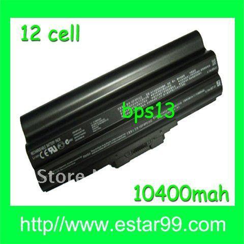 Free Shipping&Black-12cell Battery for SONY VAIO VGP-BPS13A/Q,VGP-BPS13B/Q