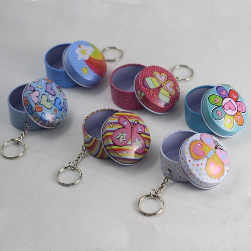 1200pcs Fashionable Circle Shaped Iron Tin Storage Box Trinket Candy Jewelry Box Pill Box with Key