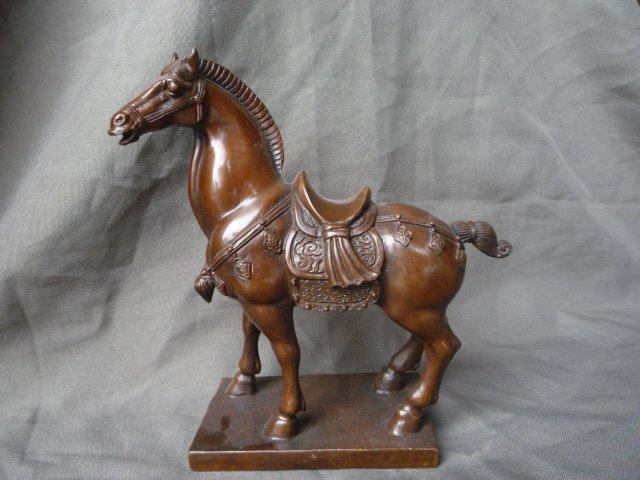Statue de cheval en cuivre de la dynastie Ming très rare, livraison gratuite