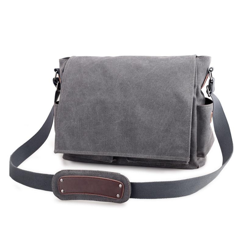 Image 4 - 2019 брендовый дизайнерский мужской портфель, холщовые сумки через плечо для мужчин, 14 дюймов, сумки на плечо для ноутбука, удобная офисная мужская сумка мессенджер-in Портфели from Багаж и сумки