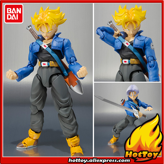 100 Original BANDAI Tamashii Nations S H Figuarts SHF Action Figure Trunks Premium Color Edition from