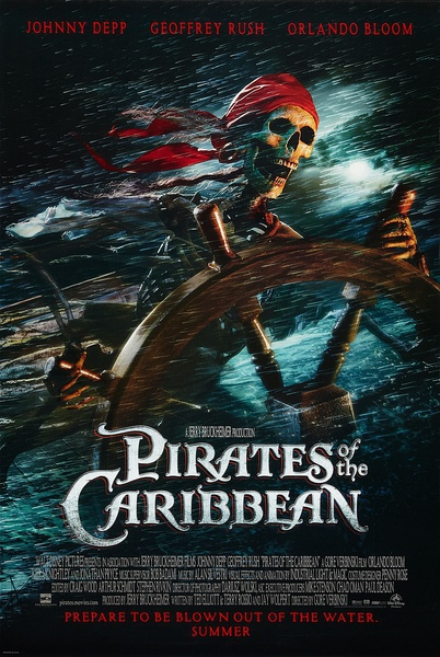 FREE SHIPPING <font><b>Pirates</b></font> <font><b>of</b></font> <font><b>the</b></font> <font><b>Caribbean</b></font> <font><b>The</b></font> <font><b>Curse</b></font> <font><b>of</b></font> <font><b>the</b></font> <font><b>Black</b></font> Pearl Movie Poster 24x36 inches USA