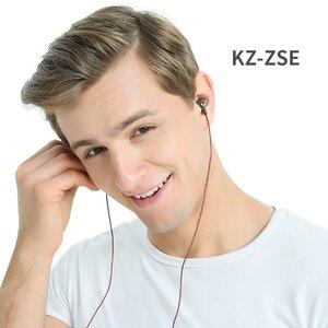 Image 5 - KZ ZSE HIFI бас спортивные наушники вкладыши Динамический драйвер шумоподавление Гарнитура Hifi наушники AS10 ZST ZS3E EDR1 ED9 ZSN AS10 ZS10