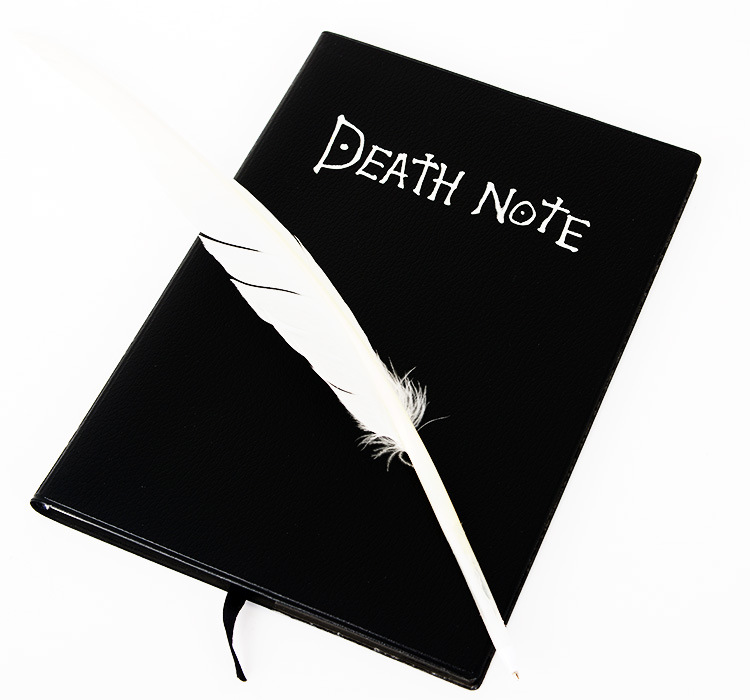 Death Note Notebook & Feather Pen Book Japan Anime Writing Journal Death Note Action Figures Ryuuku Notebook death note necklace japan anime l ryuuzaki zinc alloy silver necklaces retail bulk free shipping