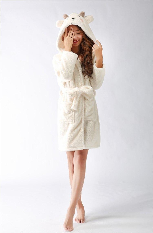 bd0513bc47 Cute Animal Flannel fleece Pijama With A Hood Adult Unisex Long Home ...