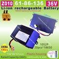 [Z010] 42 V, 36 V/4400 MAH, bateria 4.4Ah Li-ion (18650*20 pcs/CHINA CELULAR) para 2 Rodas inteligente auto balanceamento Scooter elétrico