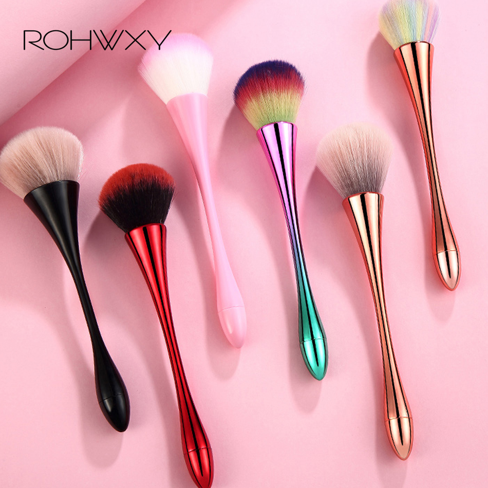 ROHWXY Nail Art Cleaning Brush Colorful Handle Soft Acrylic UV Gel  Powder Dust Sequins Remover Cleaner Pen Manicure Tool