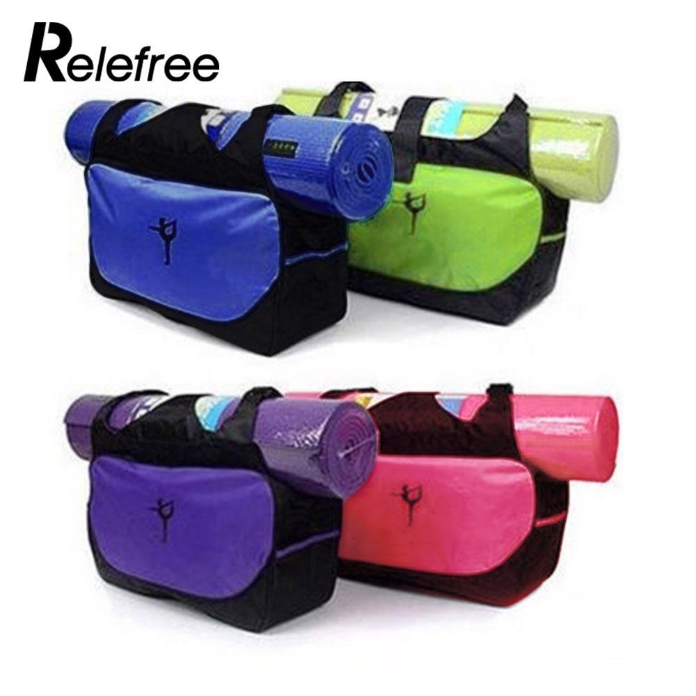 Relefree Waterproof Backpack <font><b>Yoga</b></font> Bag Fitness Multifunctional <font><b>Yoga</b></font> Backpack <font><b>Yoga</b></font> Mat Bag Gym Bag With Bottle Bags (No <font><b>Yoga</b></font> Mat)