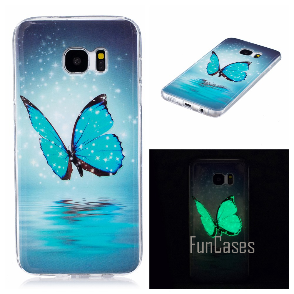 Luminous Case For coque Samsung Galaxy S7 Edge Case Silicone Cover For Samsung S7 Edge Case Cover G9350 G935 5.5 inch sammsung