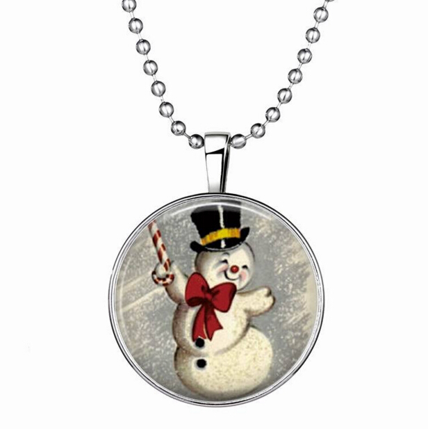 lighted christmas necklace deer pattern pendant glow merry christmas snowflake necklace flashing 2015 snowman necklace christmas in pendant necklaces from - Lighted Christmas Necklace