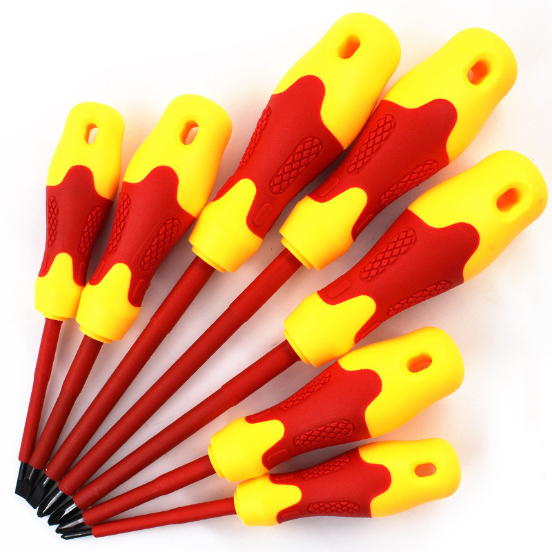 8 Pcs Electricians Screwdriver Set Tool Electrical Insulated High Voltage Multi Screw Head Type --M258 Pcs Electricians Screwdriver Set Tool Electrical Insulated High Voltage Multi Screw Head Type --M25