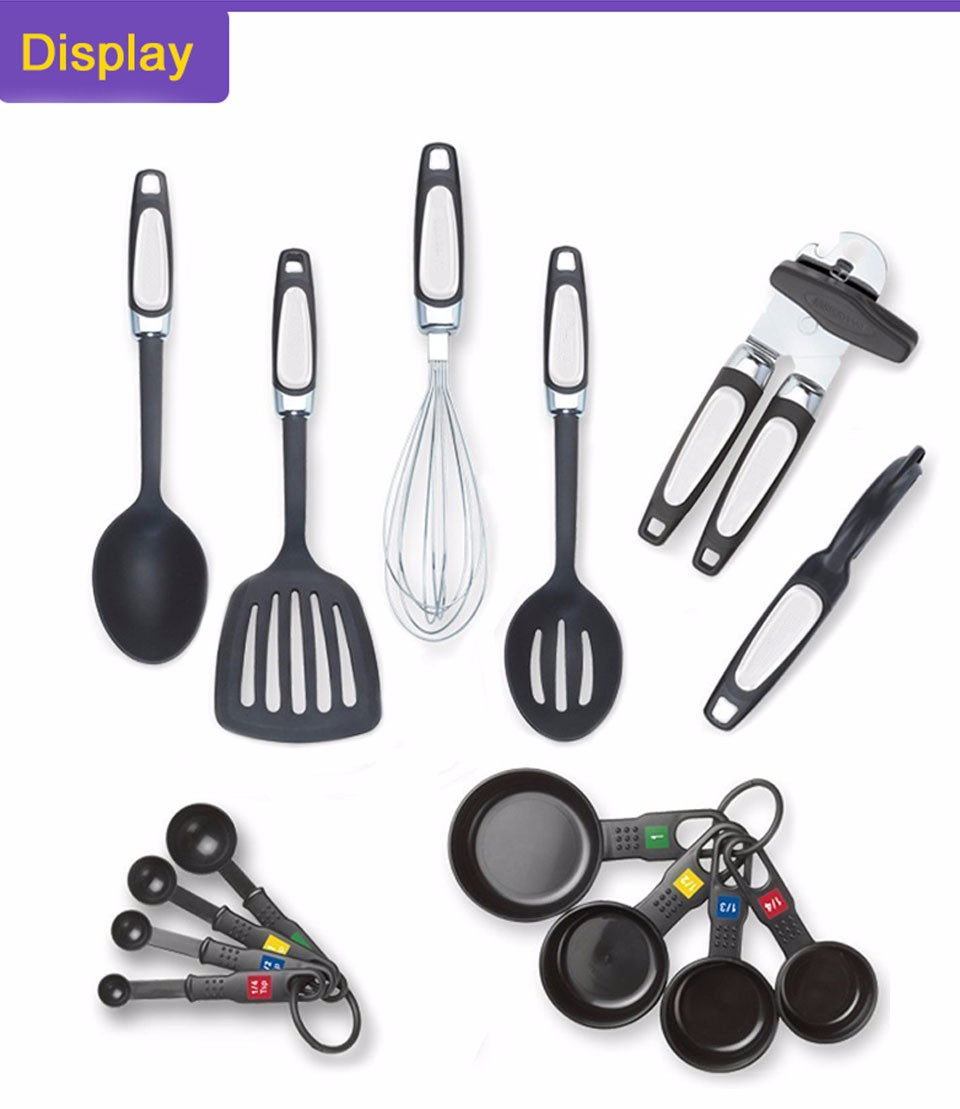 LC Nylon 14 Pieces Kitchen Utensil Set With Gift Box Slotted Turner ...