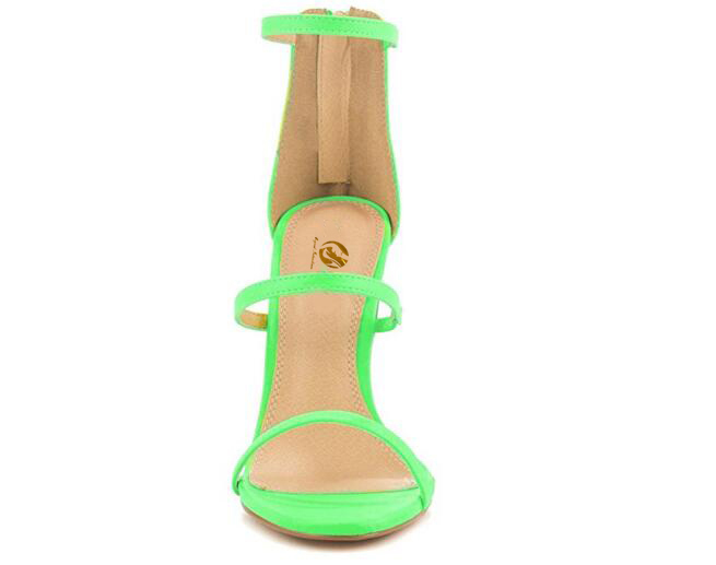 39f3f22ed Original Intention Women Sandals High quality Open Toe Thin Heels Sandals  Green Orchid Orange Shoes Woman Plus US Size 4 15 -in High Heels from Shoes  on ...