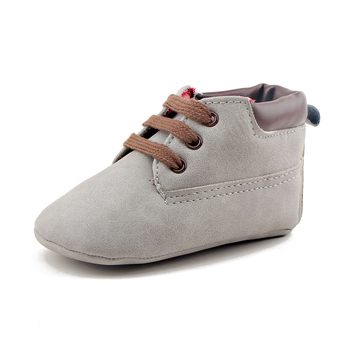 Delebao 2017Spring/Autumn New Design Simple Style Cross-tied Solid Soft Sole Unisex Infant Toddlers Baby Shoes Wholesale