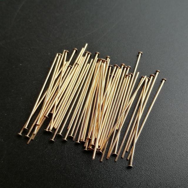 55mm Flat Head Pins Eye Pin Jewelry Making Stud Needles Tassel