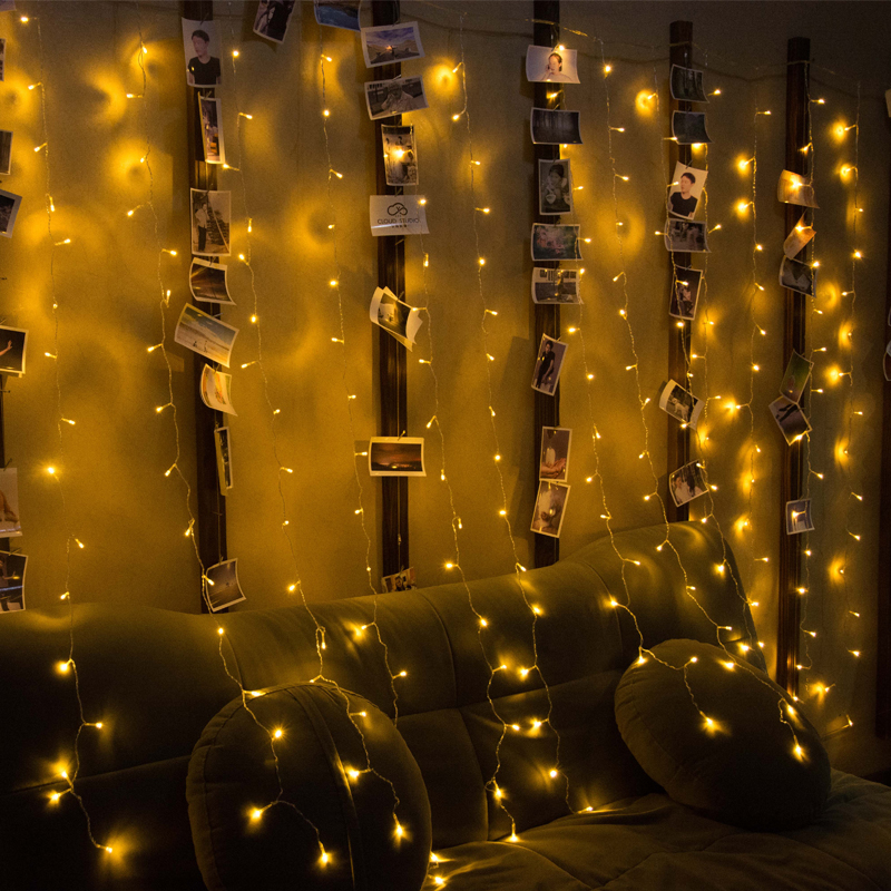 300 LED Window Curtain String Light for Wedding Party Home Garden Bedroom Outdoor Indoor Wall Decorations with 8 functions