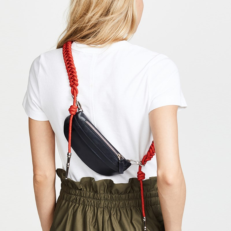 Waist Bag Fanny Pack Belt Bag Women Thigh Bags Luxury Brand Fashion Fall Winter 2018 New Black Yellow Blue Orange Wholesale